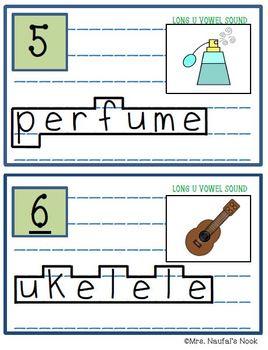 Read the Room Alphabet Long Vowel U