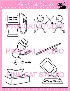 Long U Vowel Sound - Vowel Team 'ue' Phonics Clip Art Set - Commercial Use Okay