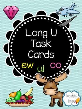 Long U Vowel Team Task Cards- ui, ew, oo