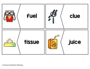 Long U Vowel Team Vocabulary Puzzles