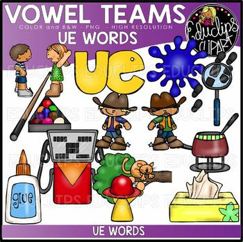 Long U Vowel Team 'ue' - Clip Art Bundle {Educlips Clipart}