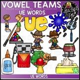 Long U Vowel Team 'ue' - Clip Art Bundle {Educlips Clipart}