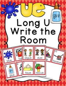 Long U Vowel Team ue Write the Room