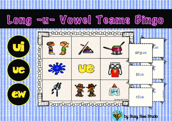 Long U Vowel Teams Bingo Game