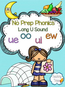 Long U Vowel Teams No Prep Phonics Pack (ew, oo, ui, ue)