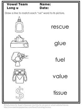 ew ue ui Word Work Long Vowel Worksheets, Vowel Team Worksheets