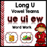 Long U Vowel Teams Word Work Packet
