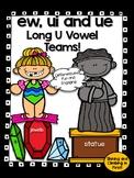 Long U Vowel Teams ue, ui, and ew - Word Work