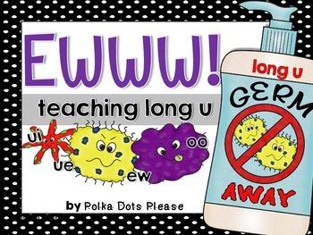 Long U Vowel Teams with Germs EWWWW!