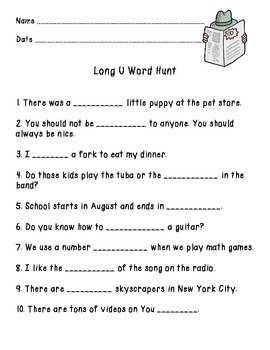 Long U Word Hunt