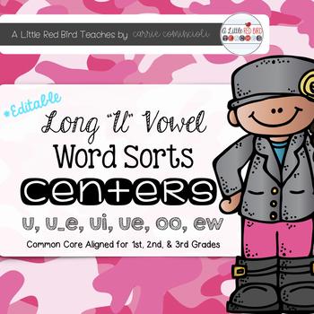 Long U Word Sorts {Editable}