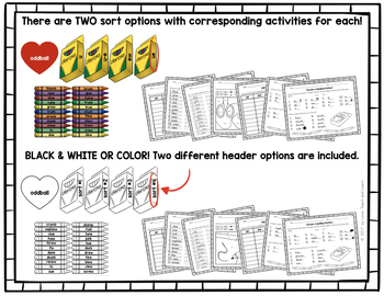 Word Sort and Center Activities : Long U (Short U, EW, U-E, & UE)
