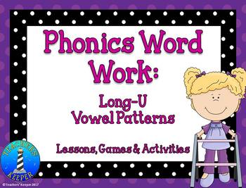 Long-U Word Work: Games & Activites