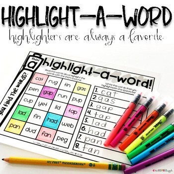 Long U Word Work Activities for Literacy Centers