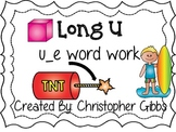 Long U Word Work Centers