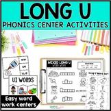 Long U Word Work Centers & Activities (u_e, ue, ui, ew)