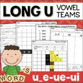 Long U Worksheets and Activities: Vowel Teams UE, UI, U_E