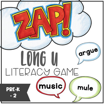 Long U - ZAP literacy game