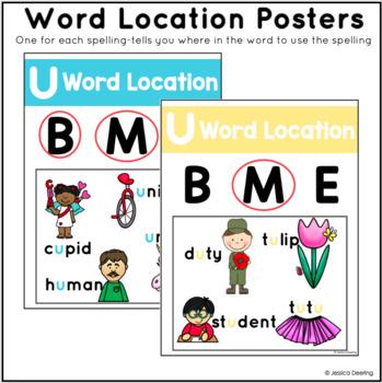 Long U and Long OO Vowel Spellings Posters- Cracking the Spelling Code