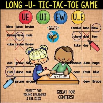Long U (ew, ue, ui, u_e) Game: Tic-Tac-Toe