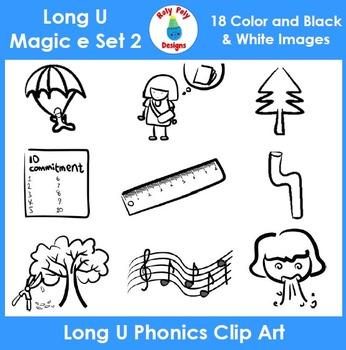Long U (magic e) Phonics Clip Art Set 2