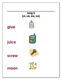 Long U (matching game, recording sheet, anchor chart)