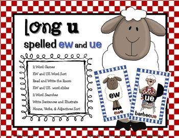 Long U spelled EW and UE Word Work Pack