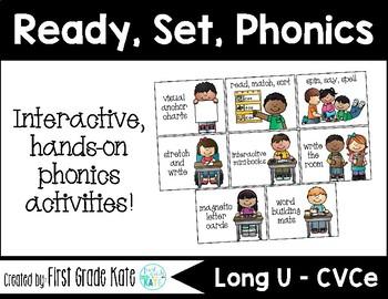 Long U (u_e) CVCe Interactive Activities (First Grade Phonics)