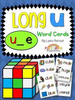 Long U u_e Word Cards