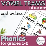 Long U ui ue ew Word Work activities