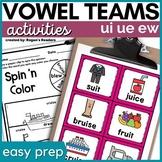 Long U Vowel Teams Activities
