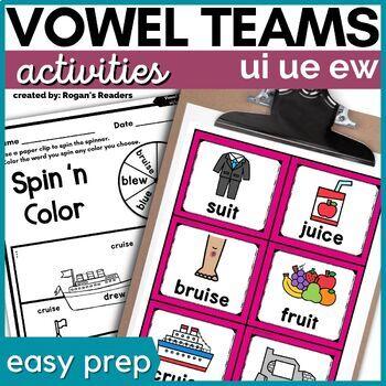 Long U ui ue ew Word Work activities