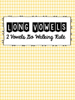 Long Vowel (2 Vowels Go Walking) Flash cards
