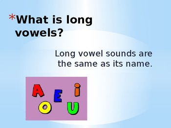 Long Vowel