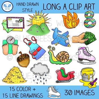 Long A Clip Art - 30 Pieces