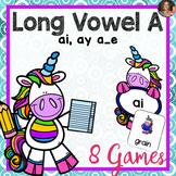 Long Vowel A Games  (Includes: ai, ay, a_e)
