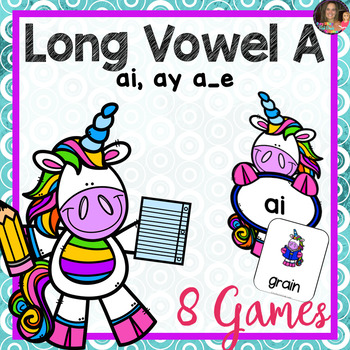 Long Vowel A Games  (Includes: ai, ay, a_e)