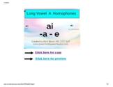 Long Vowel A  - Homophone Boom Cards