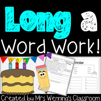 Long Vowel Aa - A Full Week of Lesson Plans, Word Work, and Activities!