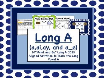 Long Vowel A Pack