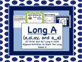 Long Vowel A Pack