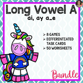 Long Vowel A Word Work Bundle (Includes: ai, ay, a_e)