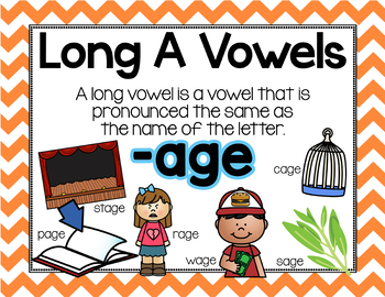 Long Vowel A Word Work {-age Word Family}