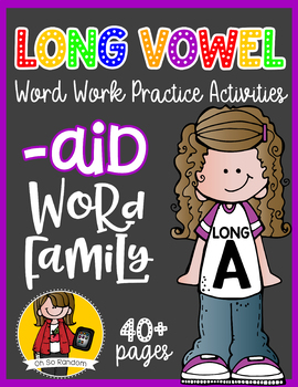 Long Vowel A Word Work {-aid Word Family}