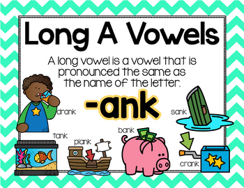 Long Vowel A Word Work {-ank Word Family}
