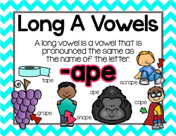 Long Vowel A Word Work {-ape Word Family}