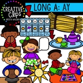Long Vowel Clipart: AY Words {Creative Clips Digital Clipart}