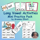 Long Vowel Activities Free Sampler