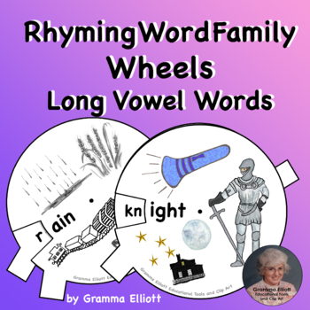 Long Vowel Bundle of Word Family Activities in Color and BW