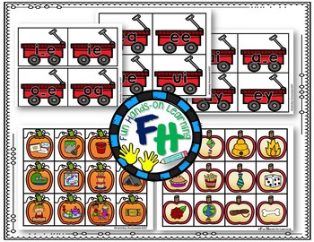Long Vowel Activity Center {Fill the Wagon}